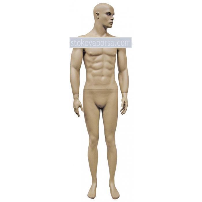 Витринен манекен мъж телесен цвят